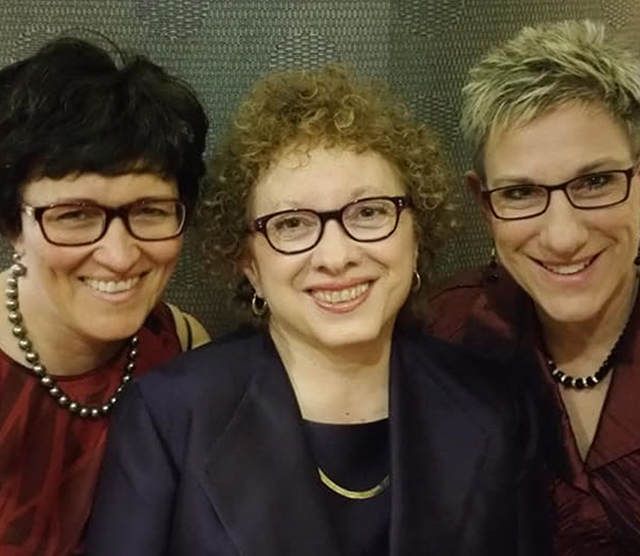 People in image (from left to right): Mary Brougher: President, Joyce Bender: Founder and CEO, Paula Ballog: CTO